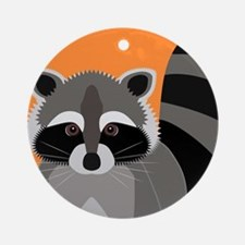 Raccoon Mischief Round Ornament