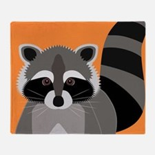 Raccoon Mischief Throw Blanket