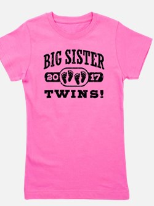 Big Sister Twins 2017 Girl's Tee