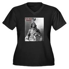 Fool Bull - Lakota Women's Plus Size V-Neck Dark T