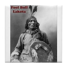 Fool Bull - Lakota Tile Coaster