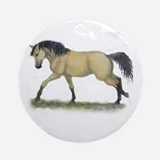 Buckskin Loping Ornament (Round)