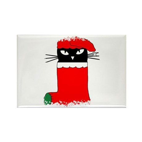 CHRISTMAS KITTY Rectangle Magnet (100 pack)