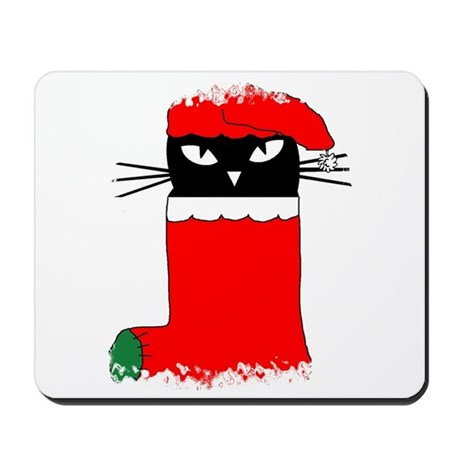 CHRISTMAS KITTY Mousepad