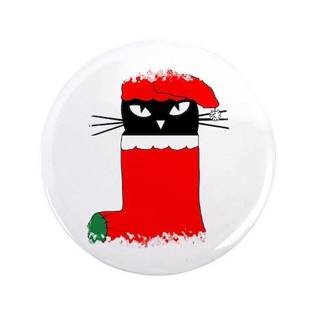 "CHRISTMAS KITTY 3.5"" Button"