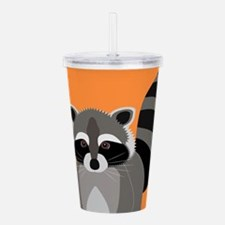 Raccoon Mischief Acrylic Double-wall Tumbler