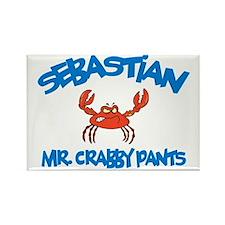 Sebastian - Mr. Crabby Pants Rectangle Magnet