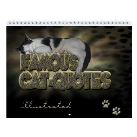 """Wall Calendar """"Cat Quotes illustrated"""""""