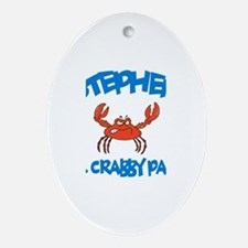 Stephen - Mr. Crabby Pants Oval Ornament