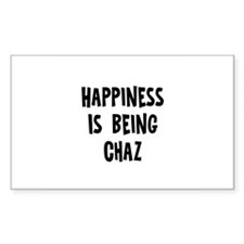 Happiness is being Chaz Rectangle Decal