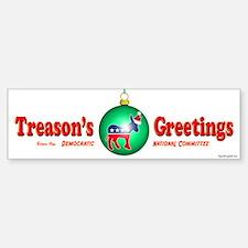 Treason's Greetings II Bumper Car Car Sticker