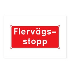 Swedish Stop Sign Postcards (Package of 8)