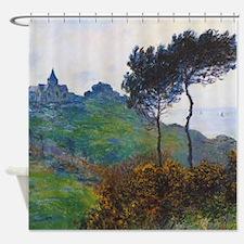 Claude Monet Church at Varengeville Shower Curtain