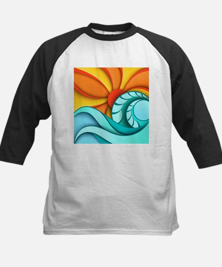 Sun and Sea Kids Baseball Jersey