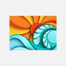 Sun and Sea 5'x7'Area Rug