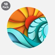 """Sun and Sea 3.5"""" Button (10 pack)"""
