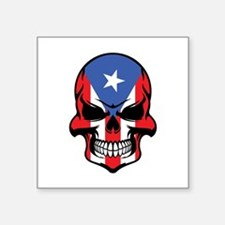 Puerto Rican Flag Skull Sticker