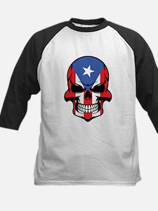Puerto Rican Flag Skull Baseball Jersey
