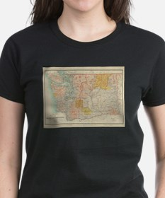 Vintage Map of Washington State (1897) T-Shirt