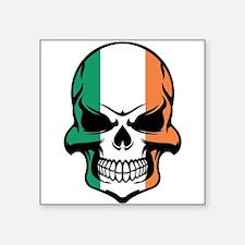 Irish Flag Skull Sticker