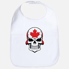 Canadian Flag Skull Bib