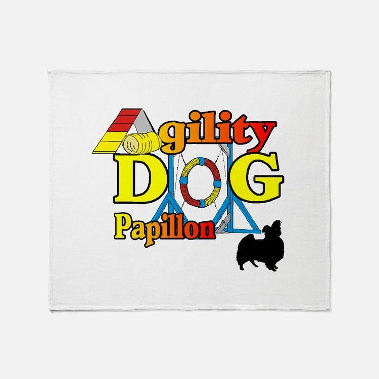 Papillon Agility Throw Blanket