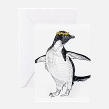 Penguin & Dandelions Greeting Cards