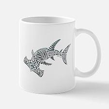 Tribal Hammerhead Shark Mugs