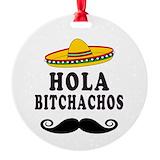 Bitchacho Round Ornament