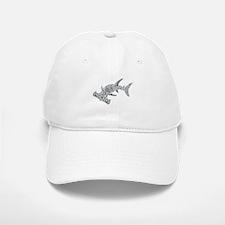 Tribal Hammerhead Shark Baseball Baseball Cap