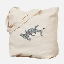 Tribal Hammerhead Shark Tote Bag
