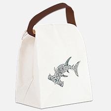 Tribal Hammerhead Shark Canvas Lunch Bag
