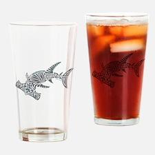 Tribal Hammerhead Shark Drinking Glass