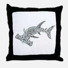 Tribal Hammerhead Shark Throw Pillow