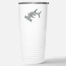 Tribal Hammerhead Shark Stainless Steel Travel Mug