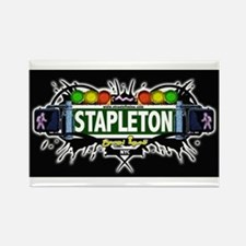 Stapleton (Black) Rectangle Magnet