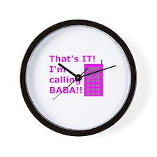Funny Baba Wall Clock