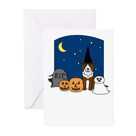 Red BC Howling Halloween Greeting Cards (Pk of 20)