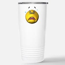 Crying Emoticon Travel Mug