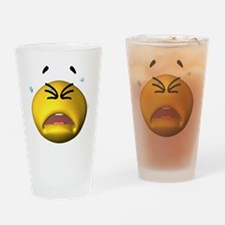 Crying Emoticon Drinking Glass