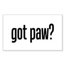 got paw? Rectangle Decal