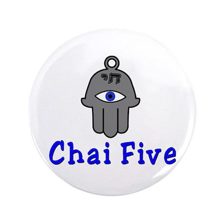 """Chai five 3.5"""" Button"""