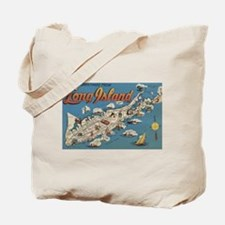 Greetings From Long Island, New York View Tote Bag