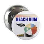 """BEACH BUM 2.25"""" Button (10 pack)"""