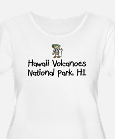 HawaiiVolcanoes_Back Plus Size T-Shirt
