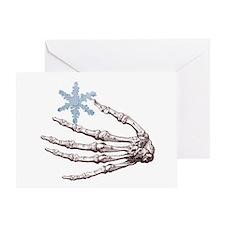 Skeletal Snowflake Holiday Card