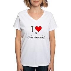 I Love My Educationalist Shirt