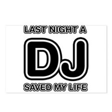 Last Night A DJ Saved My Life Postcards (Package o