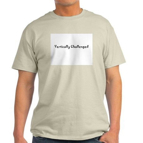 Vertically Challenged Ash Grey T-Shirt