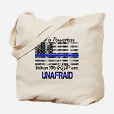 Unique Thin blue line Tote Bag